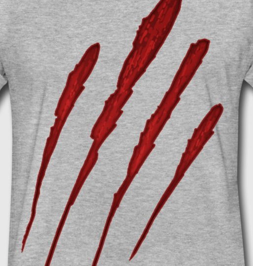 Bloody Claw Mark T-Shirt