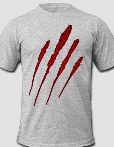 Werewolf Bloody Claw Mark T-Shirt