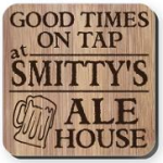 Personalized Homebrewer or Homebar Coaster