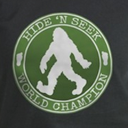 Bigfoot Hide n Seek Champion t-shirts and more