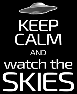 Keep Calm and Watch the Skies UFO T-Shirts