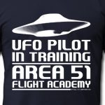 Area 51 UFO Pilot in Training T-shirt