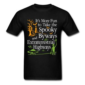 Spooky Byways and Extraterrestrial Highways Paranormal T-shirt design by WindyCinder.