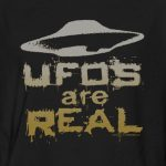 UFOs Are Real radical distressed design T-Shirt