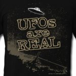 UFOs Are Real vintage flying saucer photo t-shirt