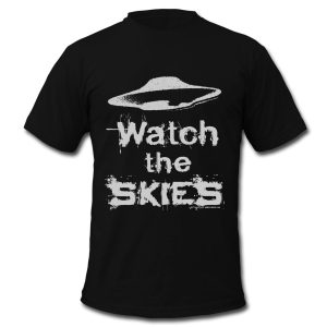 Watch the Skies UFO t-shirt design
