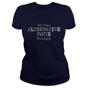 Alternative Facts Ladies Navy Blue T-Shirt
