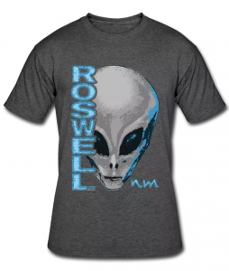 Roswell NM Alien on Men's 50/50 T-Shirt
