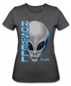 Roswell NM Alien on Women's 50/50 T-Shirt