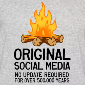 Campfires - Original Social Media. No Update required. Camping T-Shirts