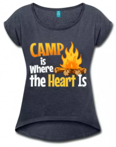 Camp is Where the Heart is, camping t-shirts slogans.