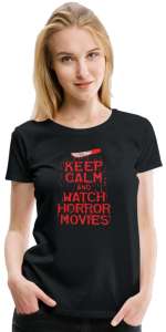 Keep Calm and Watch Horror Movies T-Shirt at Spreadshirt.com