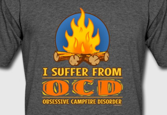 OCD Obsessive Campfire disorder camping gift ideas by WindyCinder Designs
