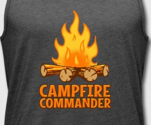 Campfire Commander camping gift ideas by WindyCinder Designs