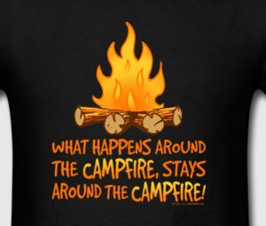 What Happens Around the Campfire TShirt By WindyCinder Designs