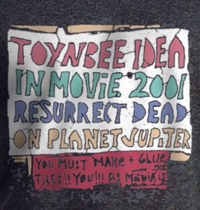 Toynbee Idea Tile replica T-Shirt Design available at CafePress.com. Second version by WindyCinder. Closeup.